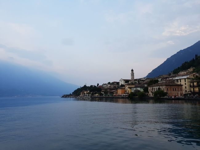 Limone sul Garda Gardasee Sky And Clouds Architecture Beauty In Nature Building Building Exterior Built Structure City Cloud - Sky Dusk Gardalake Italy Italy❤️ Lake Lake View Lakeside Land Mountain Nature No People Outdoors Residential District Scenics - Nature Sea Sky Water Waterfront