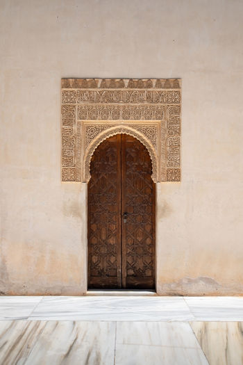 Alhambra (Granada) Alhambra De Granada  Granada, Spain Minimalist Architecture The Week on EyeEm Alhambra Arch Built Structure Craft Design Door Doorway Entrance Flooring History Luxury Marble No People Ornate Pattern Religion The Past Tiled Floor Travel Destinations Wall - Building Feature