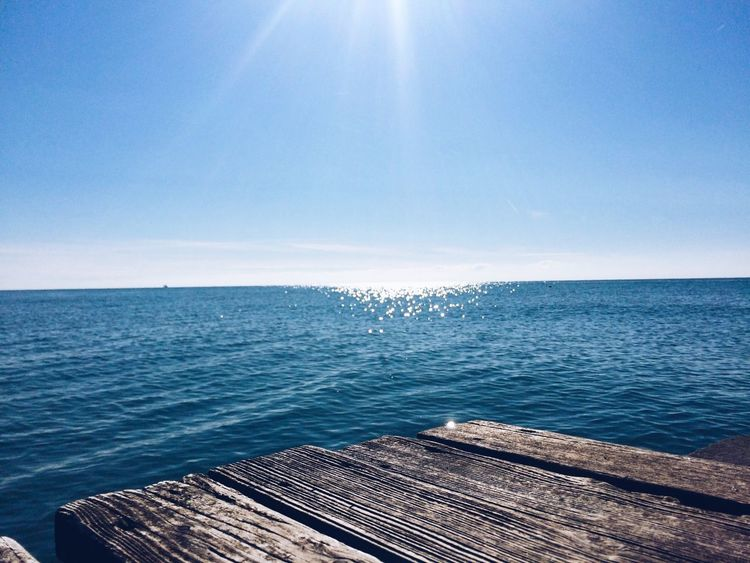 Sea Horizon Over Water Nature Sky Water Blue Beauty In Nature Scenics Clear Sky Tranquility Sunlight Outdoors No People Day Tranquil Scene
