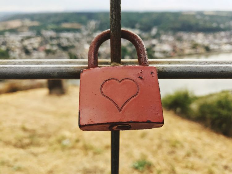 Focus On Foreground Padlock Safety Lock Metal Security Close-up Protection Railing Love Heart Shape No People Love Lock Hanging Fence Positive Emotion Emotion