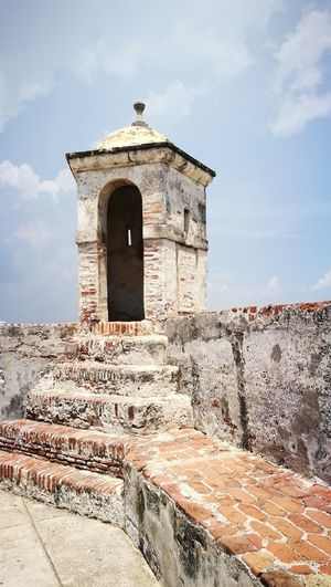 Old Fort Ruins Fortaleza De San Felipe Fortress Fortress Tower Old City Old Buildings Sightseeing Spot Cartagena De Indias Colombia