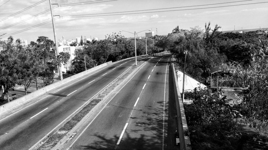 Desolated roads Transportation High Angle View No People Day Sky Outdoors Black And White Road Desolated