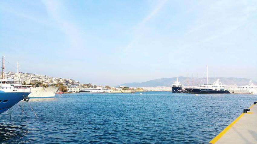 Marina Zeas Piraeus Port Greece Bythesea Ships Sunny Spring SS16 Bluesky Wonderful Day Greek See