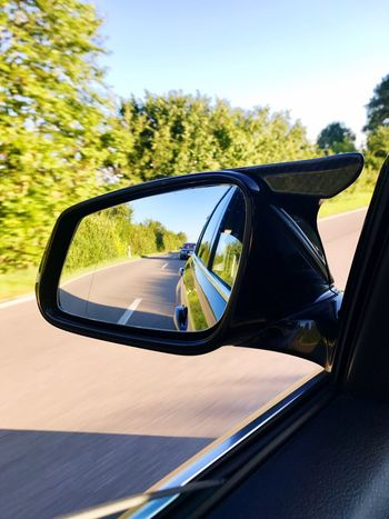 Side-view Mirror Car Sunglasses Transportation Tree Day Mode Of Transport Land Vehicle Nature No People Outdoors Sky Close-up Be. Ready. EyeEmNewHere EyeEmNewHere