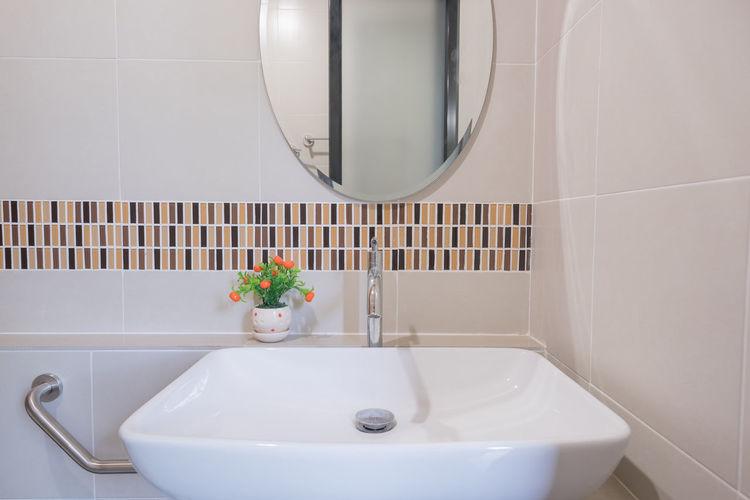 Sink in bathroom of luxury hotel room