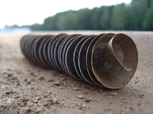 Schnecke Metal No People Outdoors Spiral Spirale