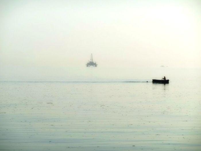 Boat Caspian Nature Oil Platform Sea First Eyeem Photo