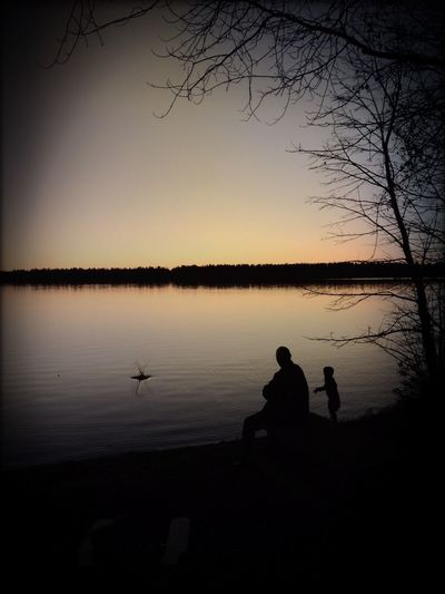 Silhouette Sunset Silhouettes Water_collection Manitoulin Island