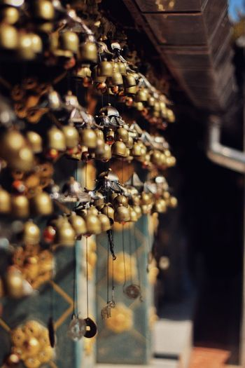 Hanging Metal Close-up Locket Gold Chain  Wind Chime Bling Bling
