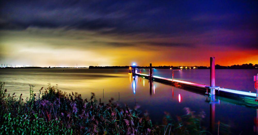 Oesterdam NL Nightphotography Night Oesterdam Zeeland  Pier Long Exposure Cloud - Sky Scenics - Nature Sunset Reflection Tranquil Scene Tranquility No People Outdoors Illuminated