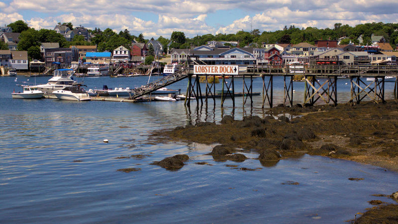 Boothbay Harbor Maine Architecture Beach Building Exterior Built Structure Day Harbor House Nature Nautical Vessel No People Outdoors Pier Sea Sky Stilt House Town Tree Water