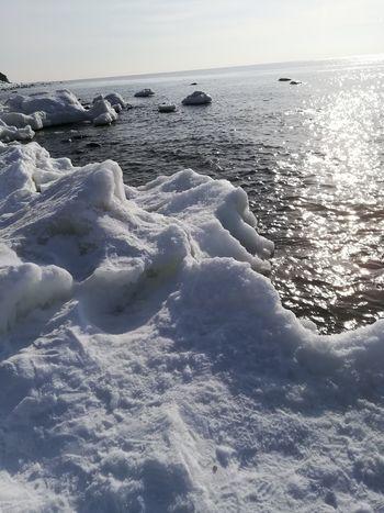 Snow ❄ Snowing Sunny Day Day Sea Sunnyday☀️ Sunny Ice