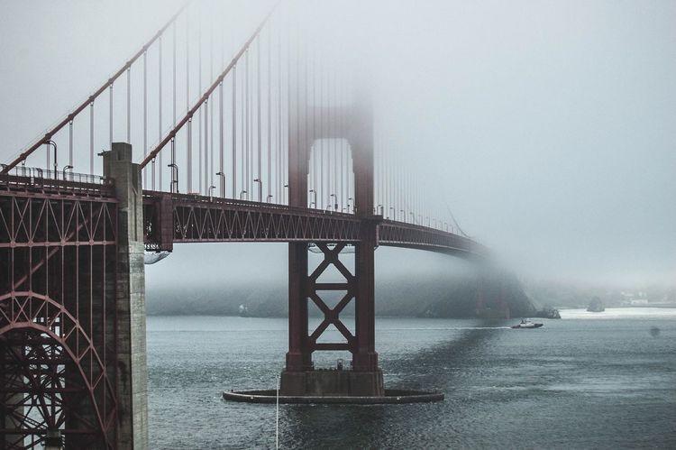 Foggy days Bridge Moody Fog Andventure Explore Bay Bay Area SF Sanfrancisco Water Life