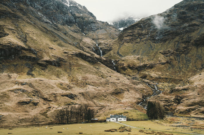 Glencoe, Scotland Beauty In Nature Building Campbell Cloud - Sky Day Glencoe Glencoe Mountain Resort Highlands Inn Landscape Mountain Mountain Range Mountain Road Nature No People Outdoor Pursuit Outdoors Physical Geography Pub Rock - Object Scotland Scottish Highlands Sky Waterfall Whisky