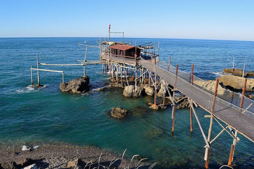 Adriatic Sea Fishing Fishing Time Horizon Over Water Italy Sea Seascape Seaside Tourism Tranquility Water