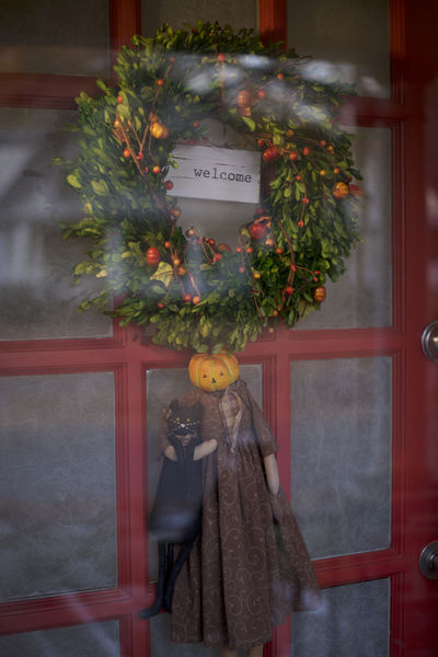 Americana Autumn Christmas Wreath Homecoming Thanksgiving Doorway Festive Decor Front Door Home For The Holidays Pumpkin Decorating Welcome Home