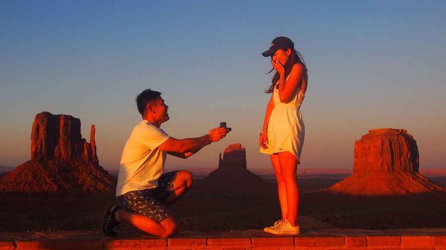 Two People Sunset Young Adult Women Young Women Vacations Men Outdoors Would you marry me??propose