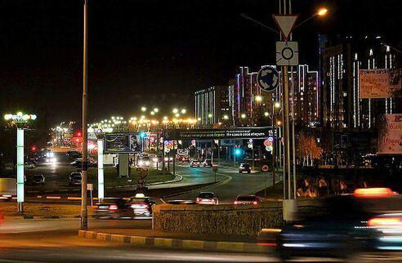 Cityscapes ночной Усть - Каменогорск