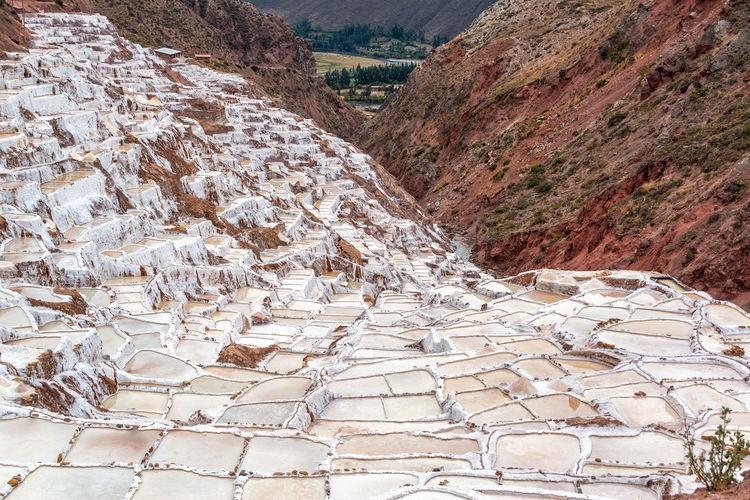 Scenic view of salinas de maras