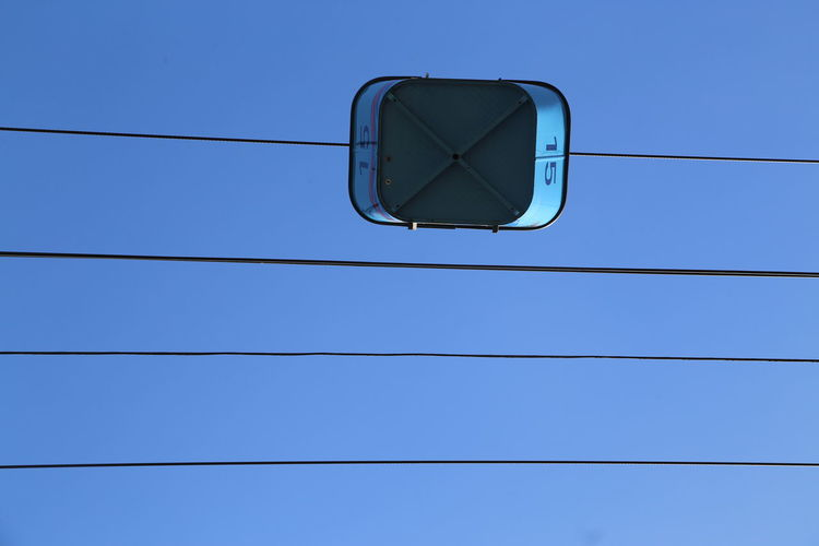 Above All Else Blue Blue Color Cable Cable Car Clear Sky Day Gondola High High Above High Section Low Angle View No People Transport