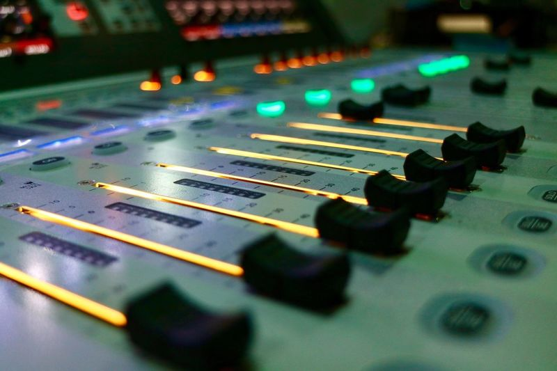 Music Indoors  Close-up Technology No People Arts Culture And Entertainment Sound Mixer Recording Studio Musical Instrument Day Thailand Mcot