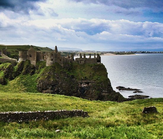 Dunluce Castle Sea And Sky Cliffside Landscape_photography Eyeem Northern Ireland Northern Ireland EyeEm Best Shots Landmarks Castle Ruins Cgk Photography