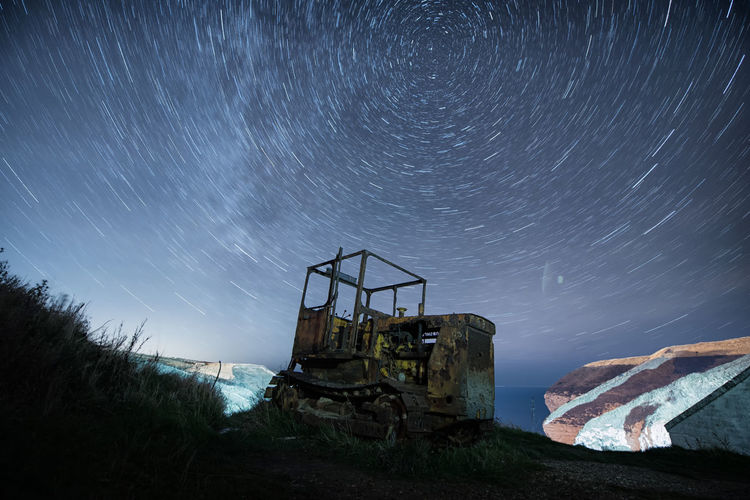 Space Sky Astronomy Star - Space Night Nature Long Exposure Abandoned Star Trail Scenics - Nature Star Field Low Angle View No People Architecture Star Galaxy Motion Damaged Infinity Blurred Motion Outdoors