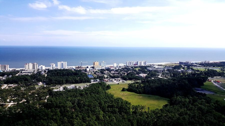 Sea Beach Horizon Over Water High Angle View Outdoors Day Landscape No People Building Exterior Sky City Architecture Cityscape Myrtle Beach SC Myrtlebeach Helicopter Fly Helicopter Shot Helicopter 🚁 Helicopter Photography Helicopter Ride Flying Helicopter View