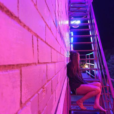 Neon Lights Neon Girl Night Night Lights