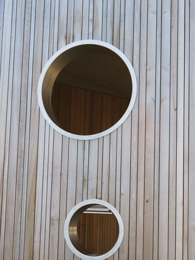 Wood - Material Backgrounds Circle Hole Close-up Architecture Built Structure