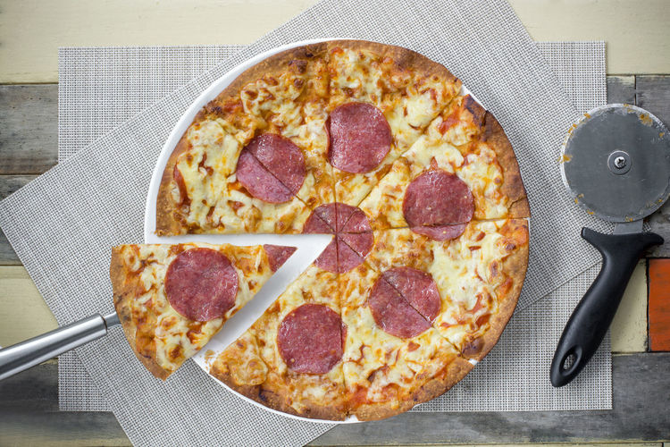 Cheese Close-up Day Food Food And Drink Freshness Indoors  Italian Food Napkin No People Pizza Ready-to-eat