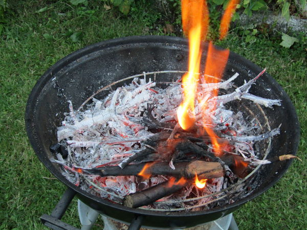 Ash Bonfire Burning Close-up Day Field Fire Pit Flame Glowing Grass Heat - Temperature High Angle View No People Outdoors