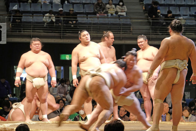 Flou d'impact de Sumo Sensei Art Art Martial Arts Martiaux Body Combat Combat Corps à Corps Cultures Japon Japonais Kawasaki Kawasaki,Japan Leisure Activity Lifestyles Showing Imperfection Sport De Combat Sports Sumo Sumo Fight Sumotoka Tokyo Tokyo,Japan Tradition