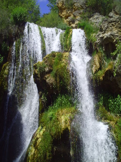 Albarracín Spain. Albarracín Albarracín Spain Beauty In Nature Blurred Motion Day Flowing Flowing Water Forest Idyllic Long Exposure Motion Nature No People Outdoors Power In Nature Rapid Rock - Object Scenics Splashing Tranquil Scene Tranquility Travel Destinations Tree Water Waterfall
