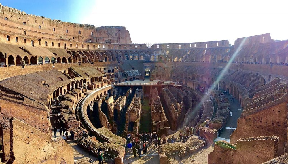 Gladiator arena! IPhoneography From My Point Of View Iphone6plus Taking Photos Hello World Architecture Architecture_collection Check This Out Rome Italy Gladiator Colesseo Colesseum Italy❤️ Italy Sunlight Sunburst Been There.