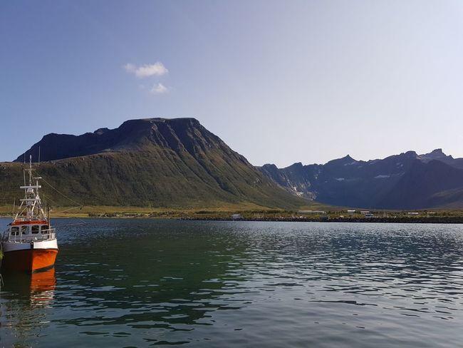Water Mountain Lake Fishing Sky Mountain Range Landscape