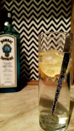 Liquid Lunch Bombaysapphire Bombay Sapphire Gin Tonic Ginlemon Night Goodnightdrink Taken By Me