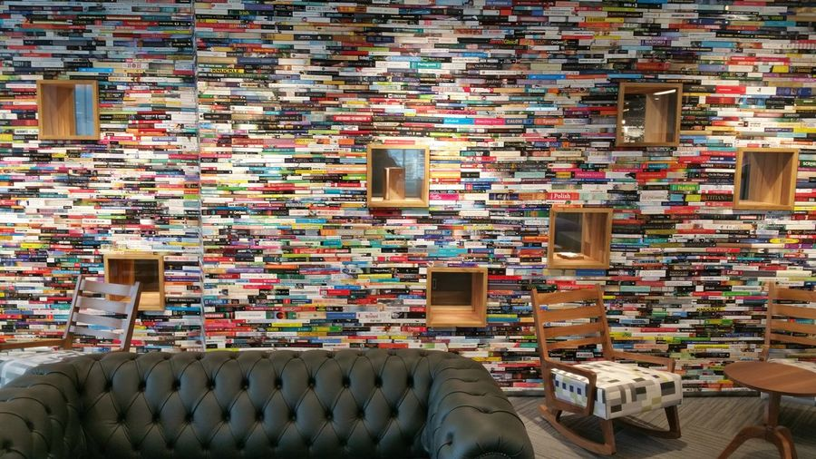 Wall Of Books Wall Books Bookshelf Unseen London