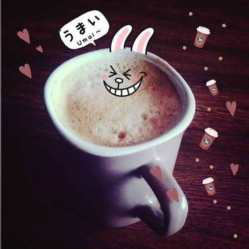 My little bro made me Senseo (=⌒▽⌒=)Yummy Koffie Sabah kahvesi 커피 コーヒー coffee うまい