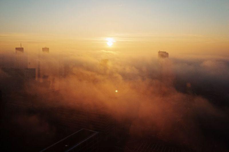 Sunrise City Cloudscape Cloud - Sky High Rise Warsaw