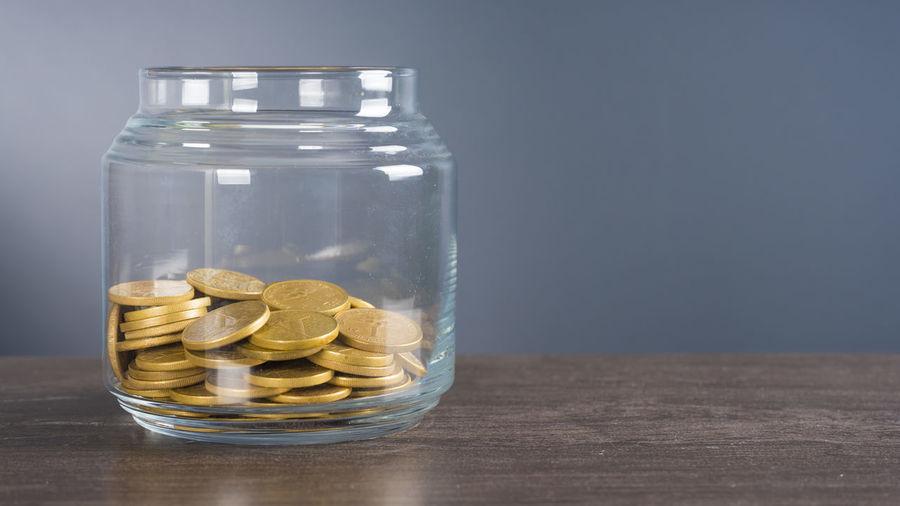 golden coins in