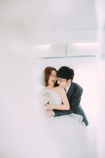 A little hug is enough Hug Love Newlywed Bride And Groom Smiling Happiness This Is Family