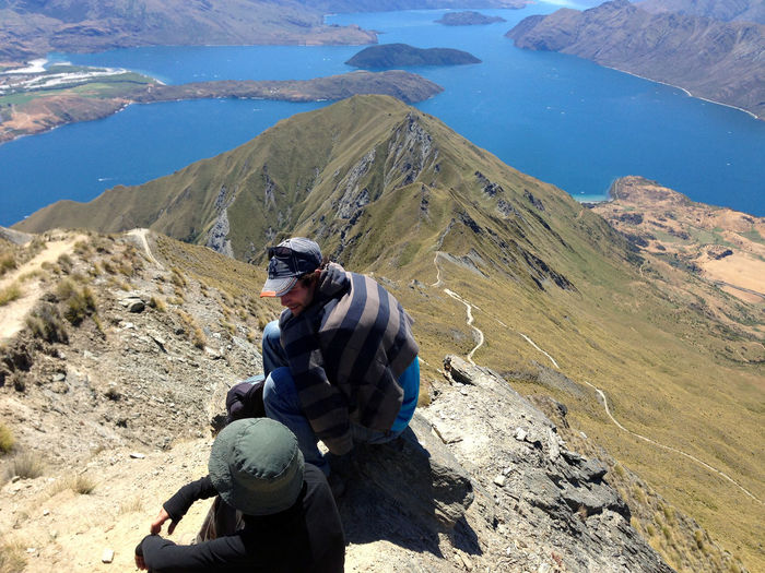 / Friendship, NZ, 2016 / #zenforeveryoung #newzealand #royspeak #zenforeveryoung Hiking New Zealand Scenery Roys Peak Track Travel Travel Photography Wanaka Adventure Culture Exchange Friendship Harmony Harmony With Nature Lake View Landscape Lifestyles Men Mountain Mountain Range Nature New Zealand Real People Summer Togetherness Travel Destinations Zenforeveryoung