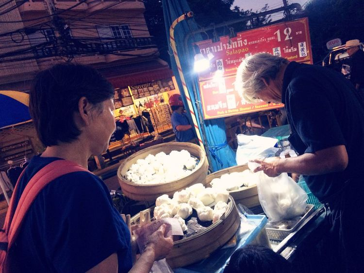 Steamed Dumplings Food And Drink at Chiang Mai Walking Street Tapae Sundaynight