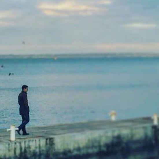 💪⚓❤ Море Одиночество красота хорошийвечер бухло алкашня небо пирс сексипаца