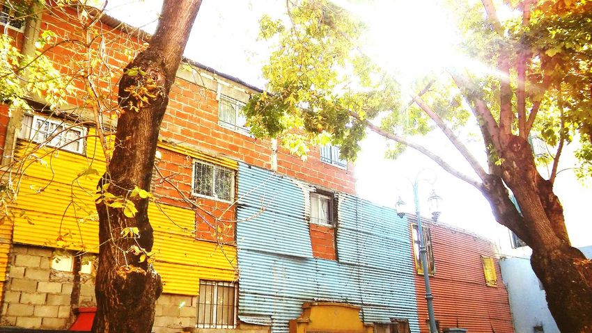 Low Angle View Day Outdoors Architecture Building Exterior Buenos Aires Multi Colored Light Travel Pictures Art Is Everywhere Travel Destinations Façade Window Colors Boca Caminito Bsas Front View City Views Cityscape Architecture Argentina Low Angle View BsasCity History