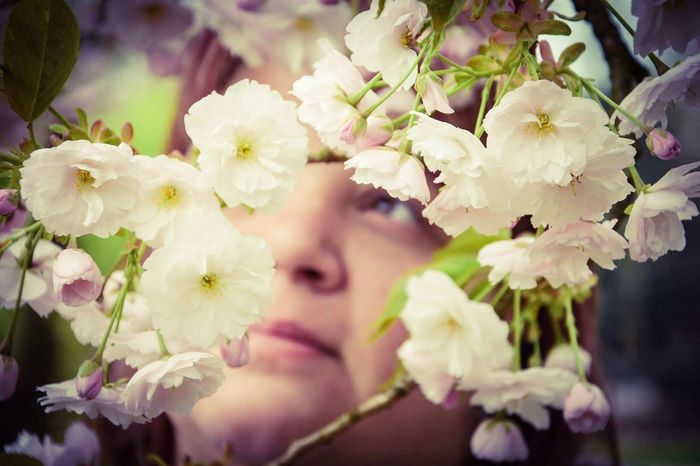 Flower Young Adult Blossom Nature Springtime Only Women One Young Woman Only Young Women Beauty In Nature Beauty Outdoors One Woman Only People Women