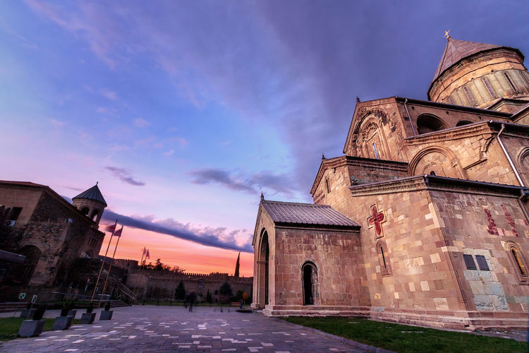 The famous church of Mtskhta Church Georgia Mtskheta Travel Traveling Architecture Building Exterior Built Structure Cloud - Sky Day Destination History Low Angle View No People Old Outdoors Place Of Worship Religion Sky Skyscraper Spirituality Structure Sunset Travel Destinations