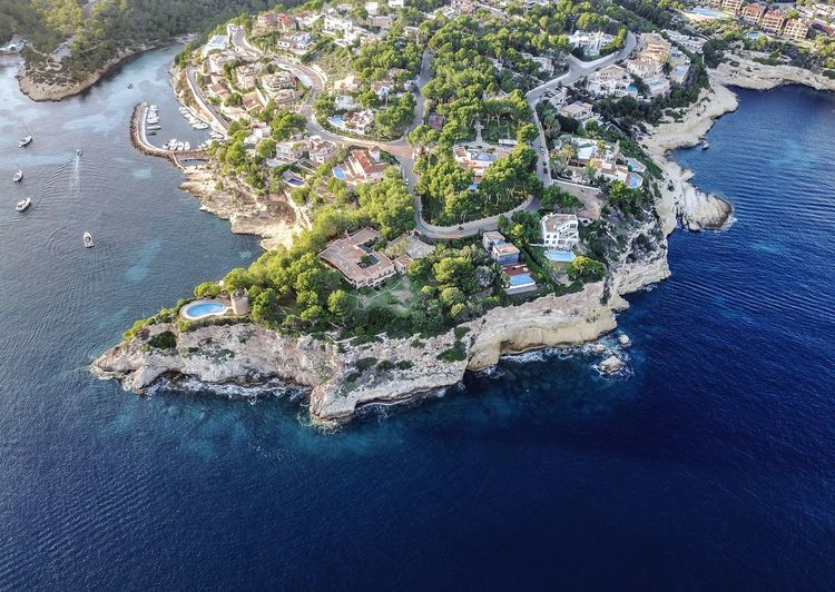Drone  Mallorca SPAIN Aerial View Architecture Beauty In Nature Built Structure City Day High Angle View Island Nature No People Outdoors Port Scenics Sea Travel Destinations Water Waterfront