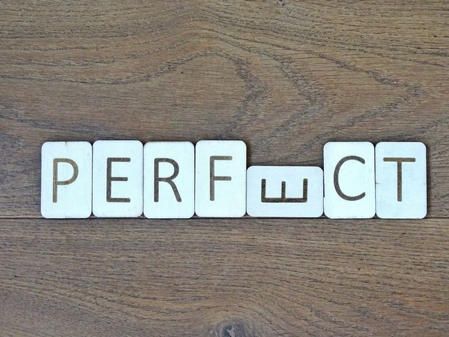 Perfect but not perfect Creative Motivation Inspirational Word Words And Letters Letters Wooden Background Perfect Quote Text Words Wooden Letters Wooden Inperfection Inperfect Perfect